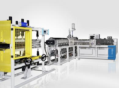 Schaumtandex ZE 40 / KE 90 is a unique overall machine concept for developing and optimizing foaming processes