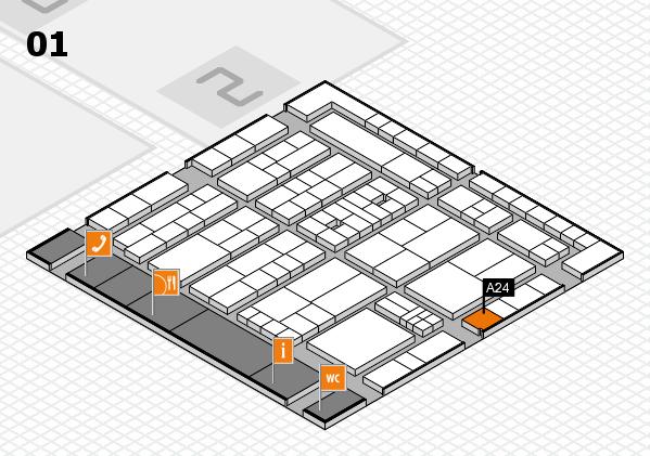 K 2016 hall map (Hall 1): stand A24