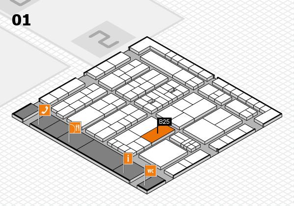 K 2016 Hallenplan (Halle 1): Stand B25