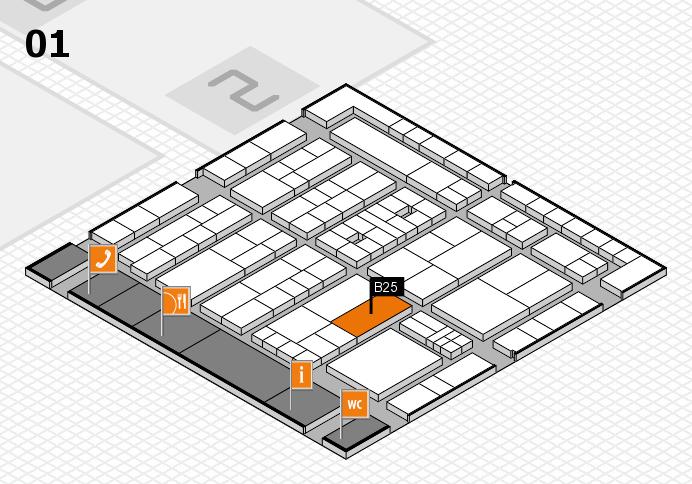 K 2016 hall map (Hall 1): stand B25