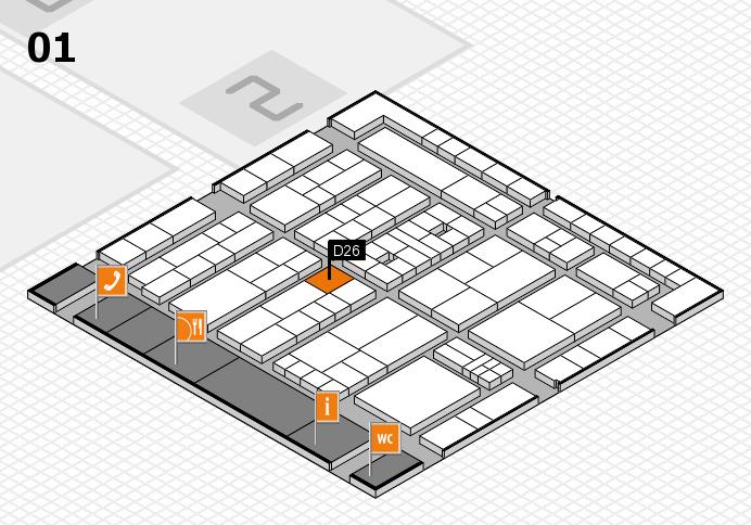 K 2016 hall map (Hall 1): stand D26