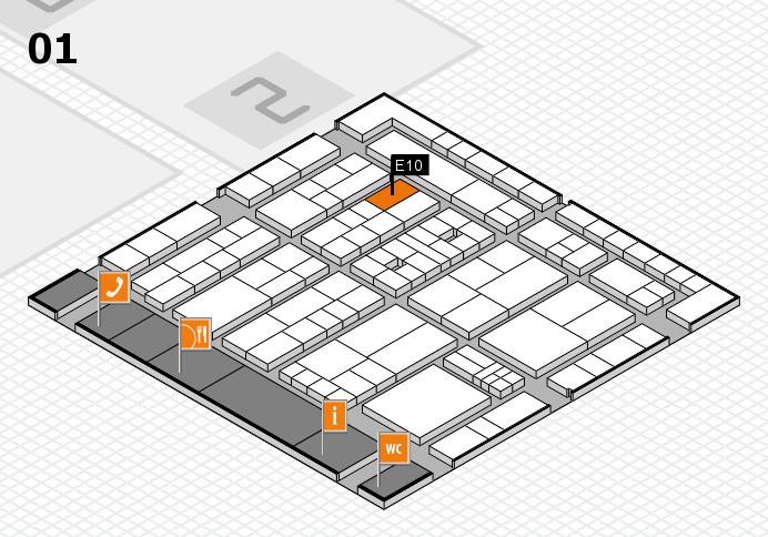 K 2016 Hallenplan (Halle 1): Stand E10