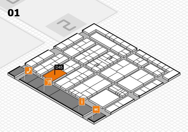 K 2016 Hallenplan (Halle 1): Stand D45