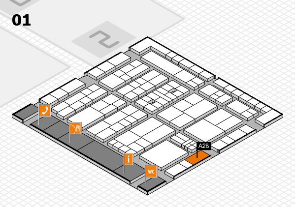 K 2016 Hallenplan (Halle 1): Stand A28