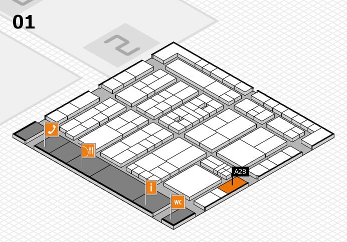 K 2016 hall map (Hall 1): stand A28