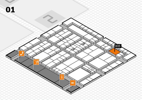 K 2016 hall map (Hall 1): stand B06