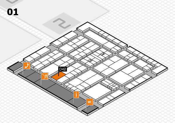 K 2016 Hallenplan (Halle 1): Stand D42