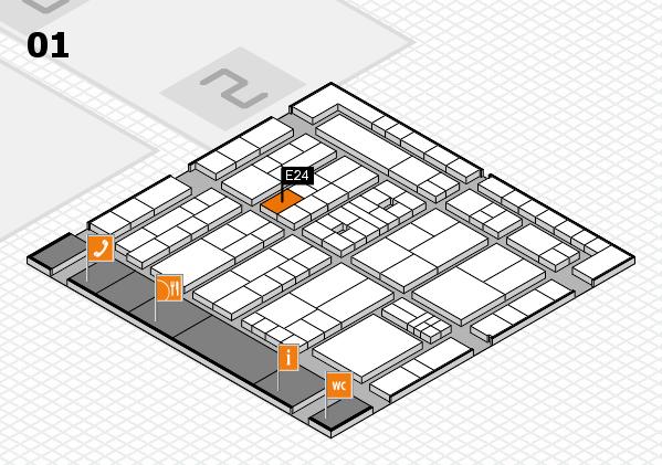 K 2016 hall map (Hall 1): stand E24