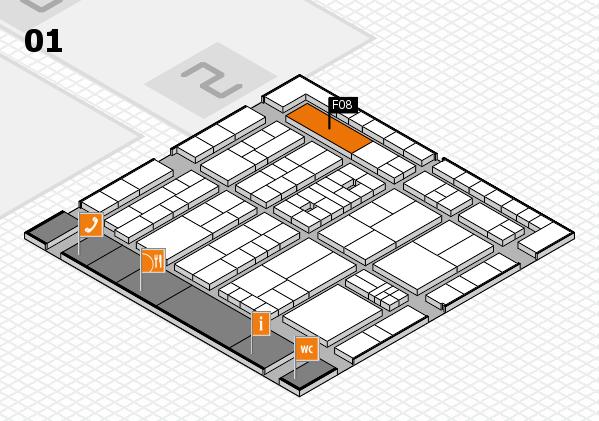 K 2016 Hallenplan (Halle 1): Stand F08
