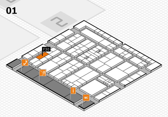 K 2016 hall map (Hall 1): stand F30