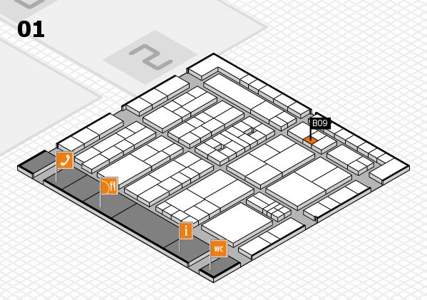 K 2016 hall map (Hall 1): stand B09