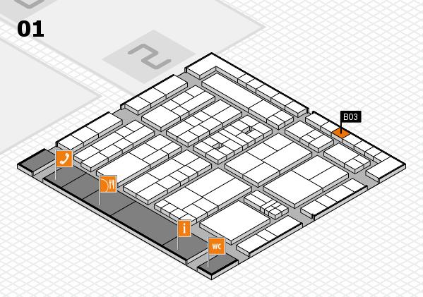 K 2016 Hallenplan (Halle 1): Stand B03