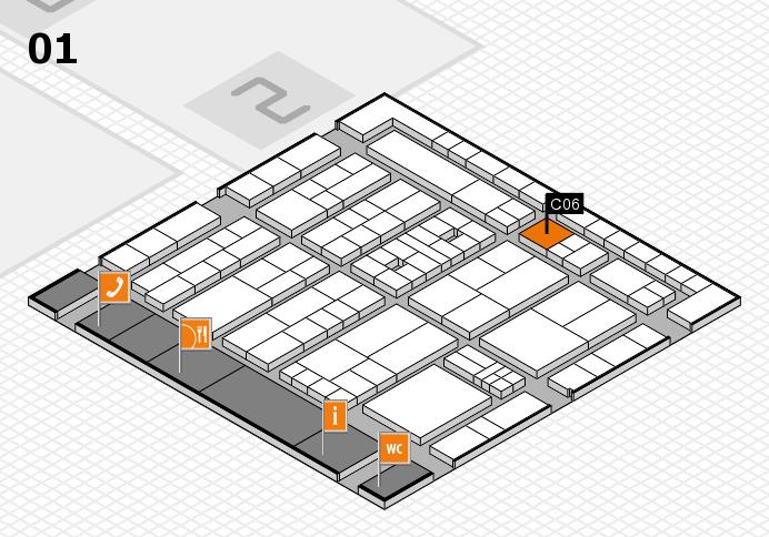 K 2016 hall map (Hall 1): stand C06