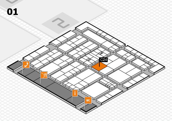 K 2016 Hallenplan (Halle 1): Stand C24