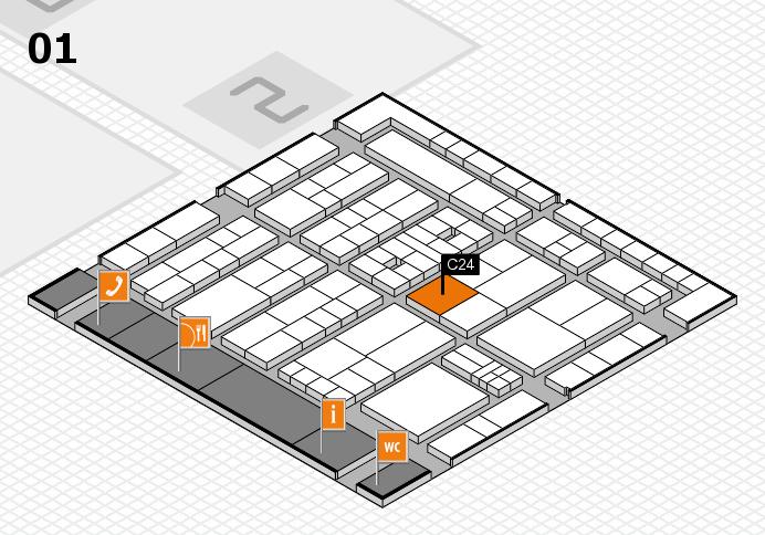 K 2016 hall map (Hall 1): stand C24