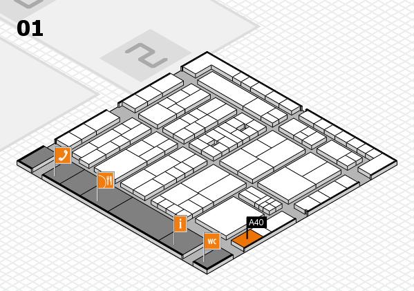 K 2016 Hallenplan (Halle 1): Stand A40