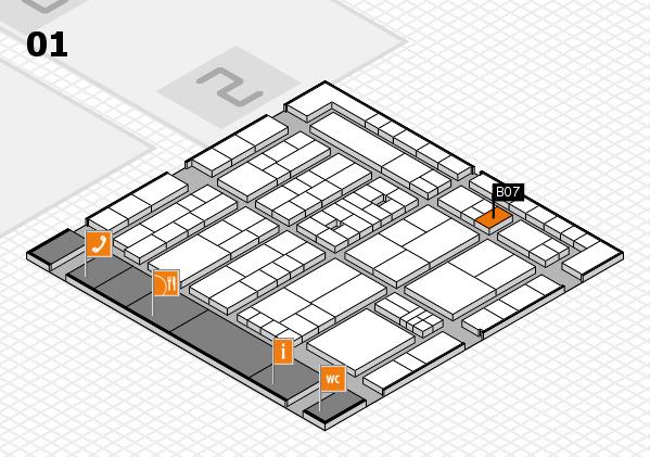 K 2016 hall map (Hall 1): stand B07