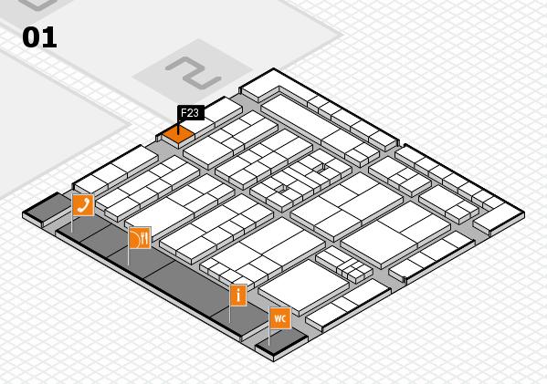 K 2016 Hallenplan (Halle 1): Stand F23