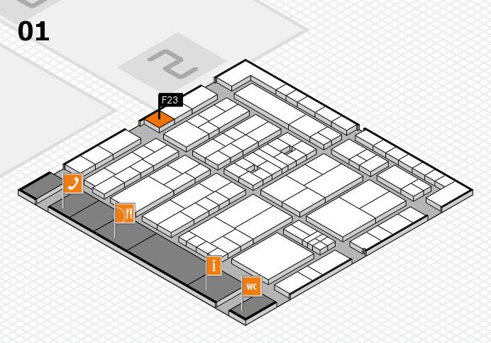 K 2016 hall map (Hall 1): stand F23