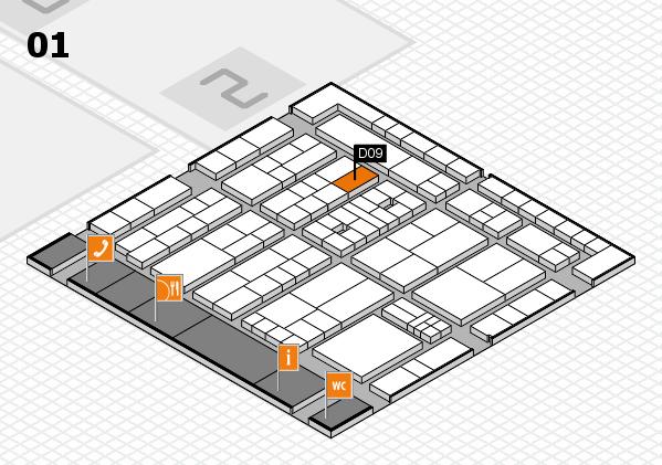 K 2016 hall map (Hall 1): stand D09