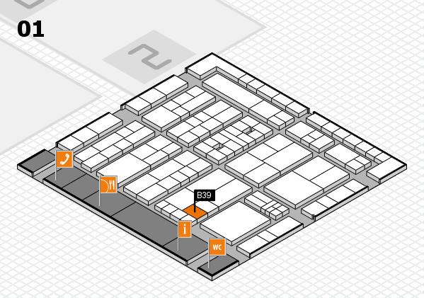 K 2016 Hallenplan (Halle 1): Stand B39