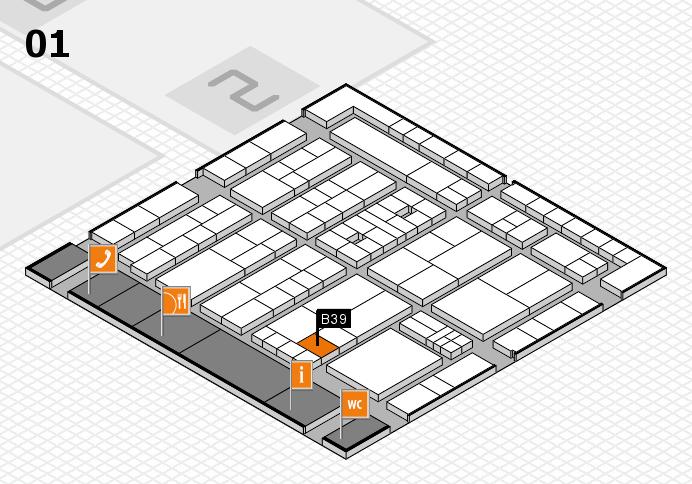 K 2016 hall map (Hall 1): stand B39