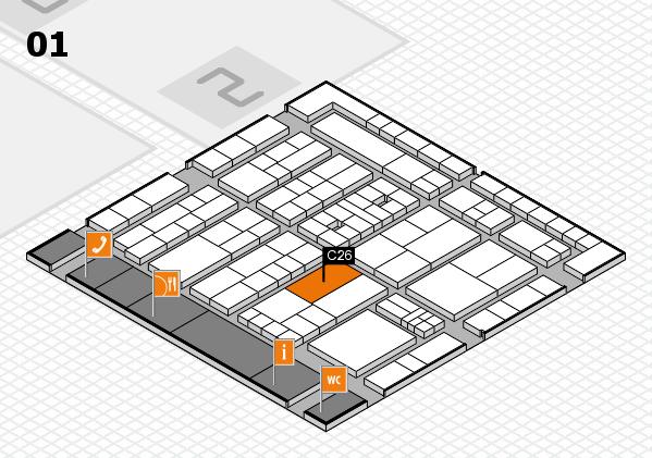 K 2016 hall map (Hall 1): stand C26
