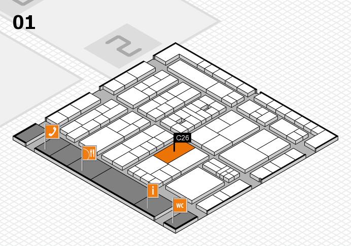 K 2016 Hallenplan (Halle 1): Stand C26