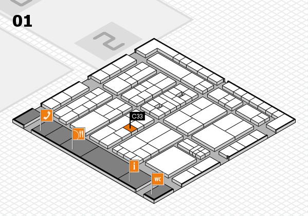 K 2016 hall map (Hall 1): stand C33