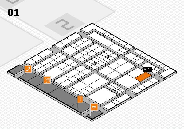 K 2016 Hallenplan (Halle 1): Stand A11