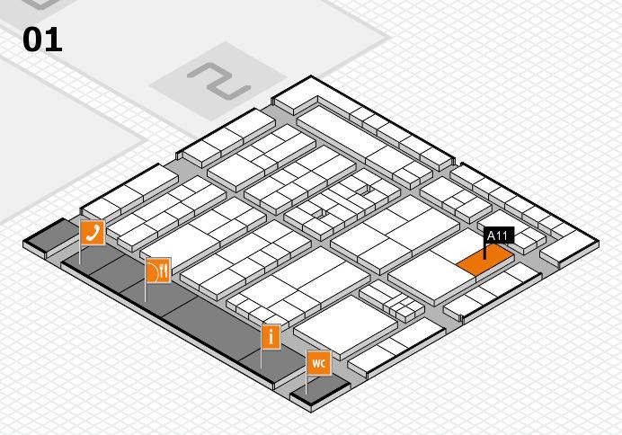 K 2016 hall map (Hall 1): stand A11