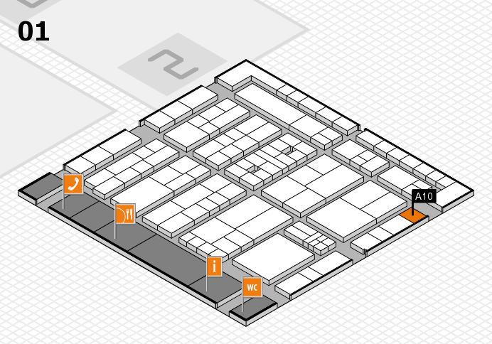 K 2016 hall map (Hall 1): stand A10
