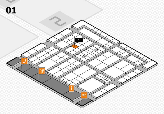 K 2016 Hallenplan (Halle 1): Stand E18