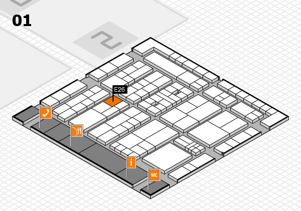 K 2016 Hallenplan (Halle 1): Stand E26