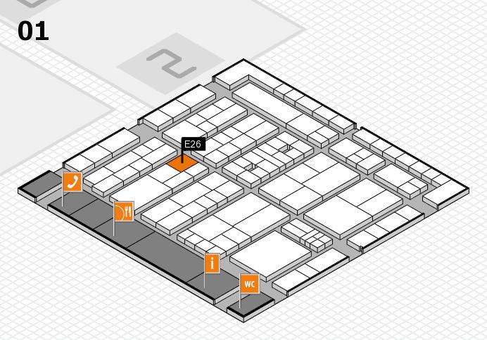 K 2016 hall map (Hall 1): stand E26