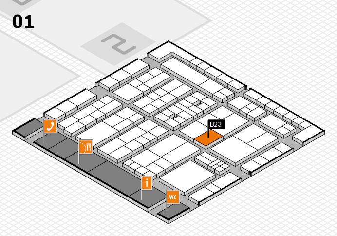 K 2016 hall map (Hall 1): stand B23
