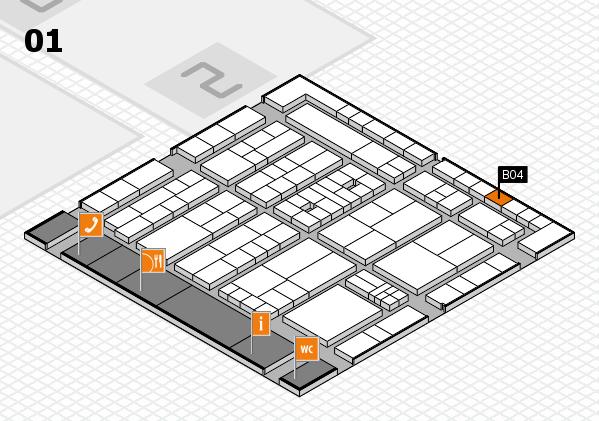 K 2016 Hallenplan (Halle 1): Stand B04