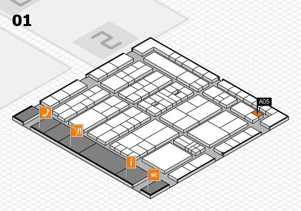 K 2016 hall map (Hall 1): stand A05