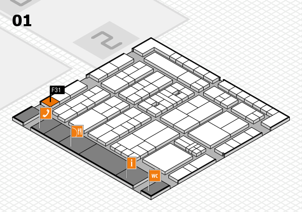 K 2016 hall map (Hall 1): stand F31