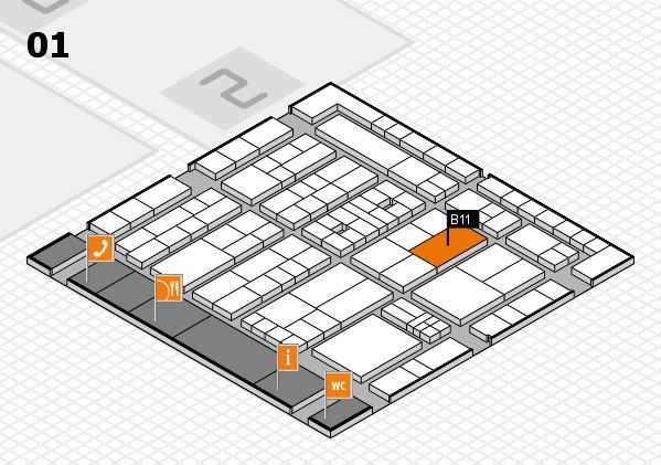 K 2016 hall map (Hall 1): stand B11