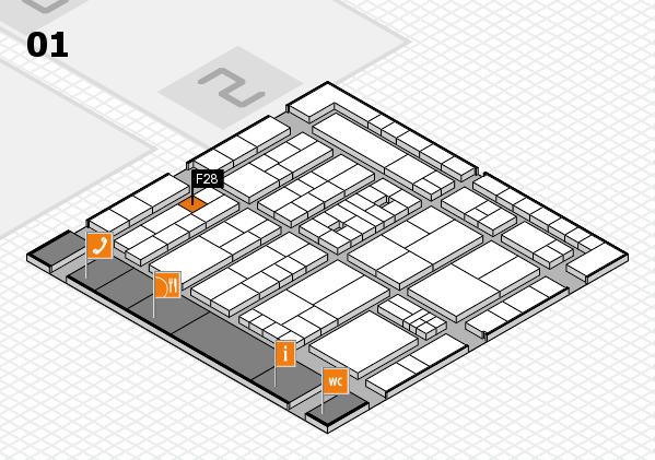 K 2016 hall map (Hall 1): stand F28