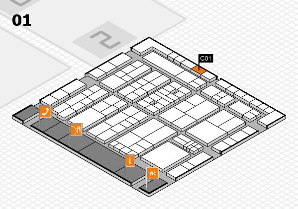 K 2016 Hallenplan (Halle 1): Stand C01