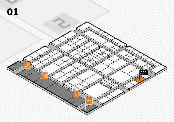 K 2016 Hallenplan (Halle 1): Stand A20