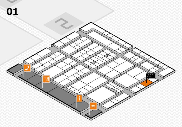 K 2016 hall map (Hall 1): stand A20