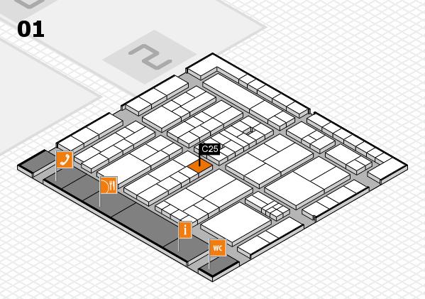 K 2016 hall map (Hall 1): stand C25