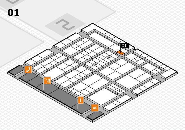 K 2016 hall map (Hall 1): stand C11