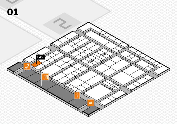 K 2016 hall map (Hall 1): stand F42
