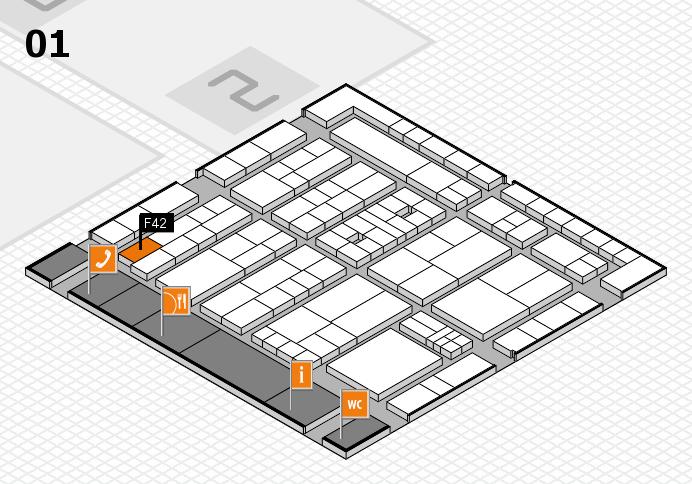 K 2016 Hallenplan (Halle 1): Stand F42