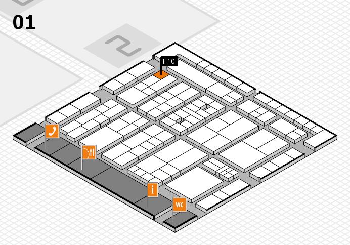 K 2016 hall map (Hall 1): stand F10