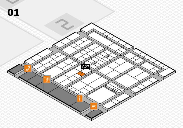 K 2016 hall map (Hall 1): stand C27